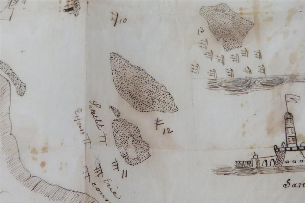 Battle of Veracruz, Capture of San Juan de Ulua, firsthand account and map (2pcs)