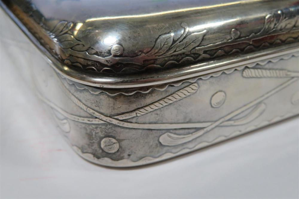 Whiting silver golf-themed box, for J.E. Caldwell & Co