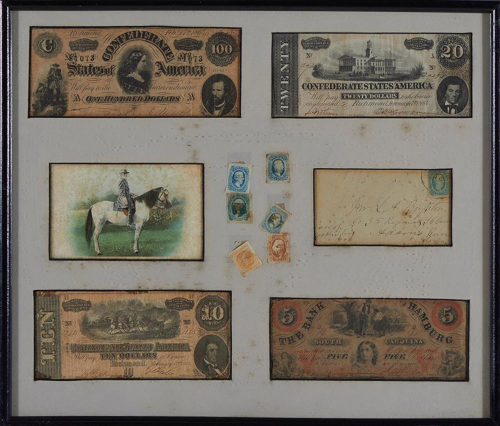 Confederate currency and ephemera (4pcs)