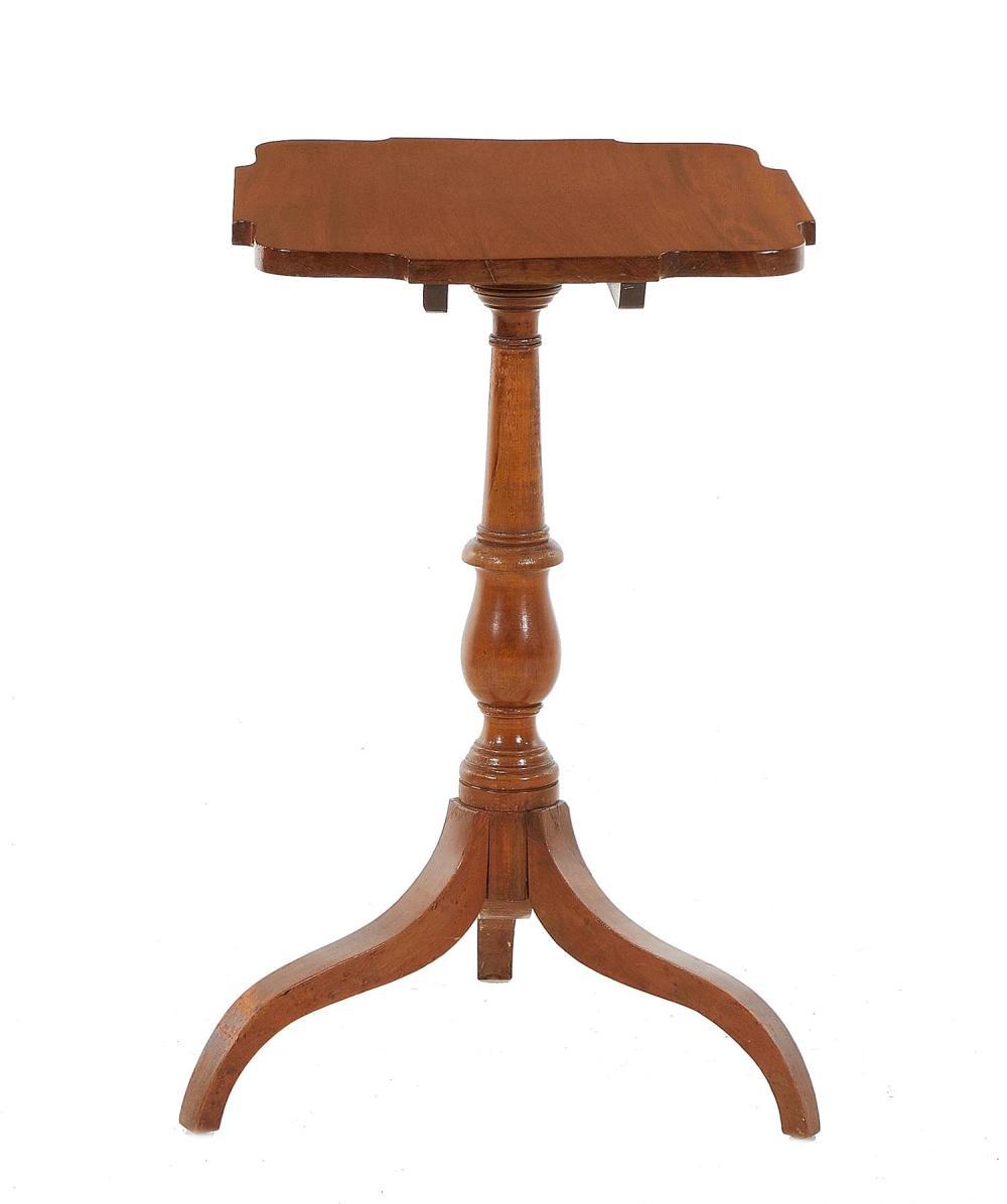 Federal cherry tilt-top tea table