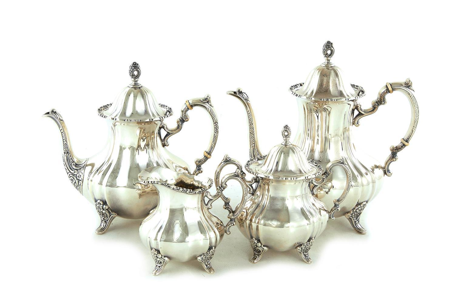 American silver tea and coffee service, by Poole (4pcs)