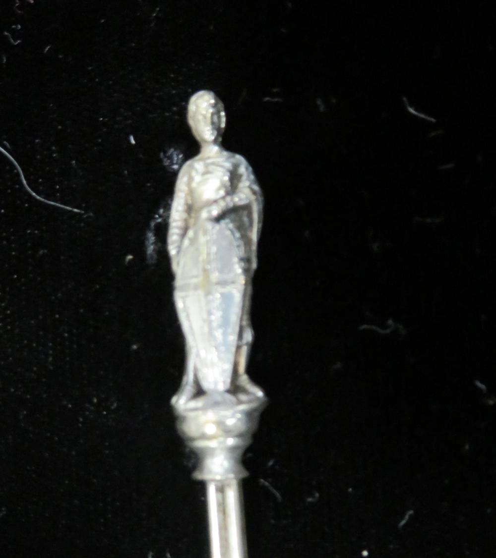 Cased set enameled souvenir spoons