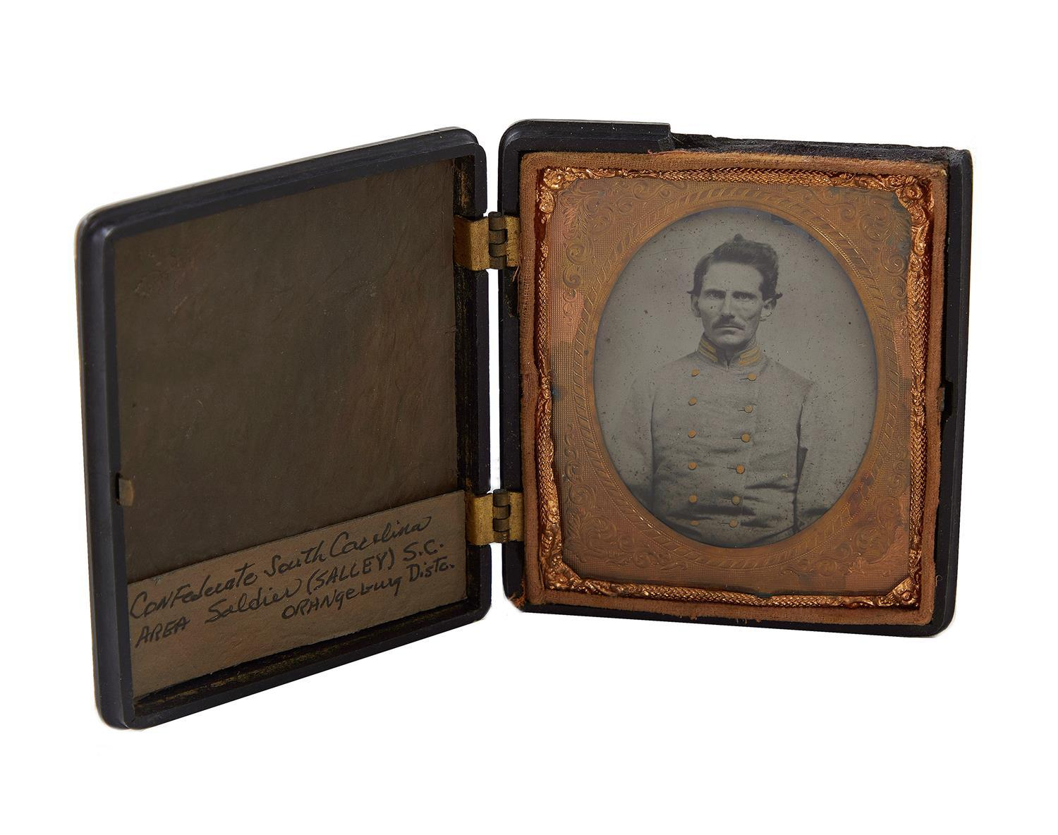 Civil War Confederate soldier sixth-plate ambrotype