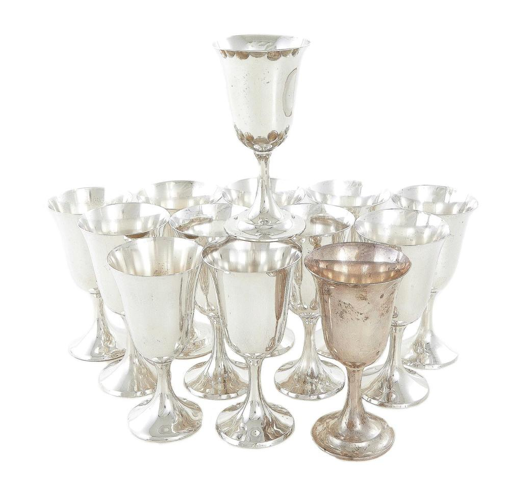 American silver goblets, Manchester (13pcs)