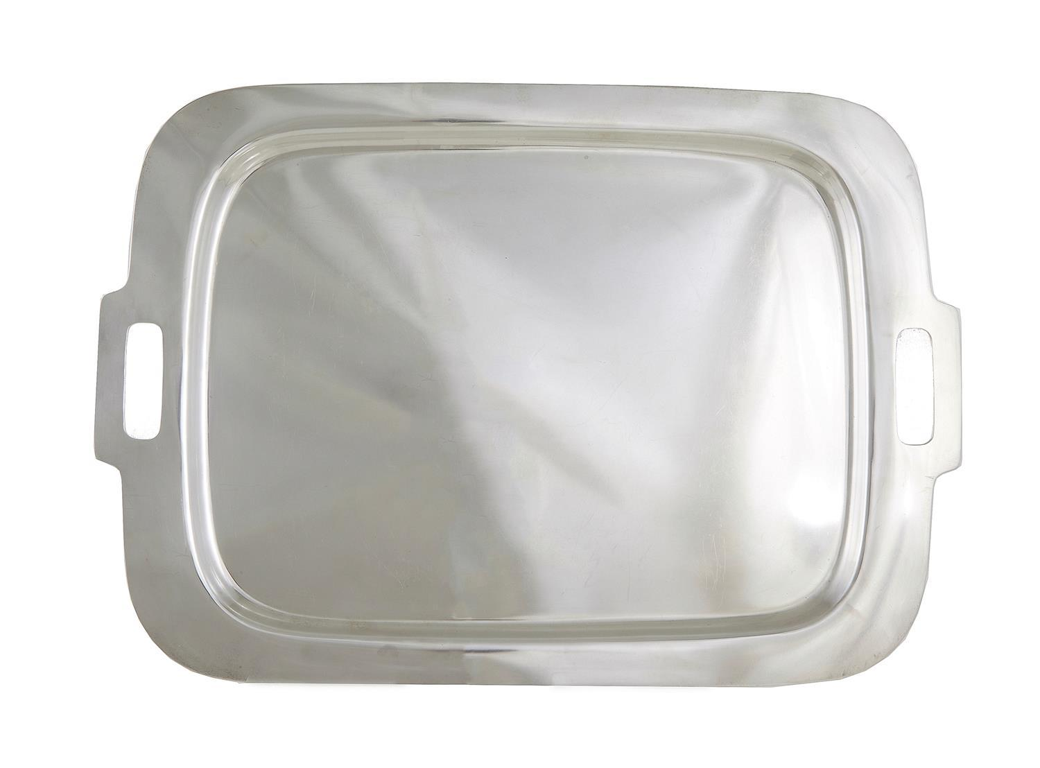 American silver serving tray, Frank W. Smith Silver Co