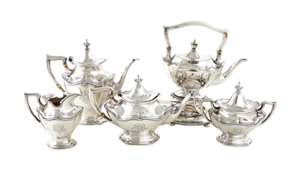 Reed & Barton silver tea and coffee service (5pcs)