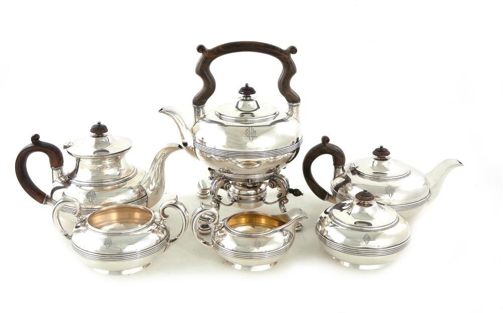 Durgin silver tea and coffee service, for Hodgson, Kennard & Co (6pcs)
