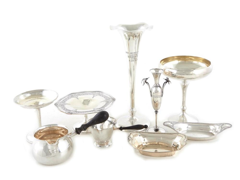 American silver table articles, including Tiffany & Co (9pcs)