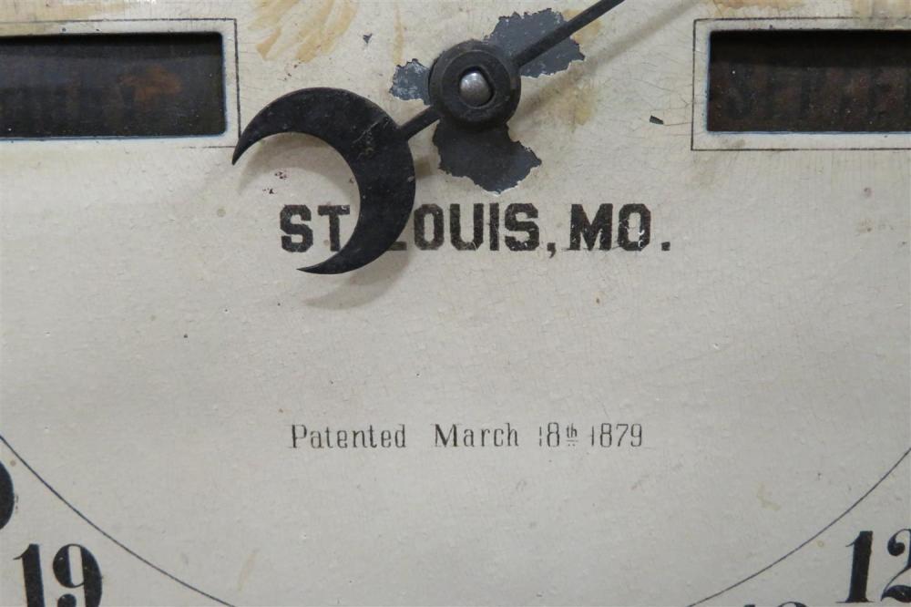 Southern Calendar Clock Co. walnut cased fashion clock