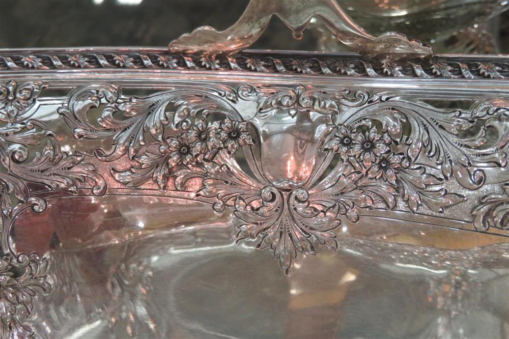 Massive Gorham reticulated silver basket