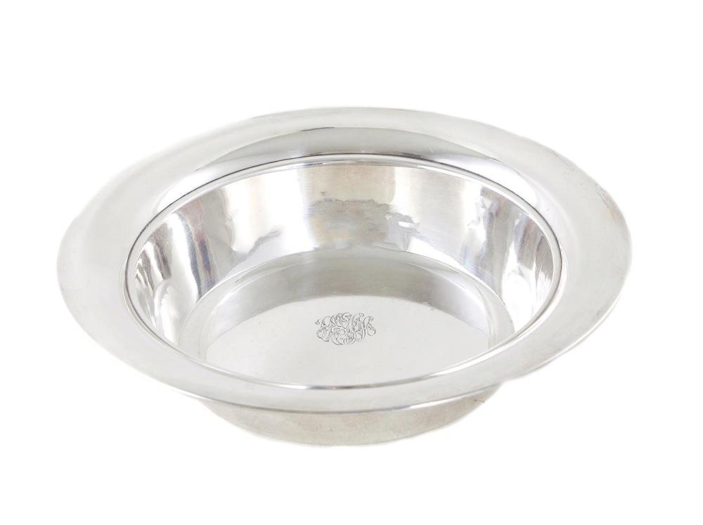 Towle silver basin-form bowl