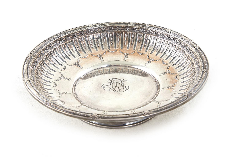 Gorham Marie Antoinette pattern silver tazza
