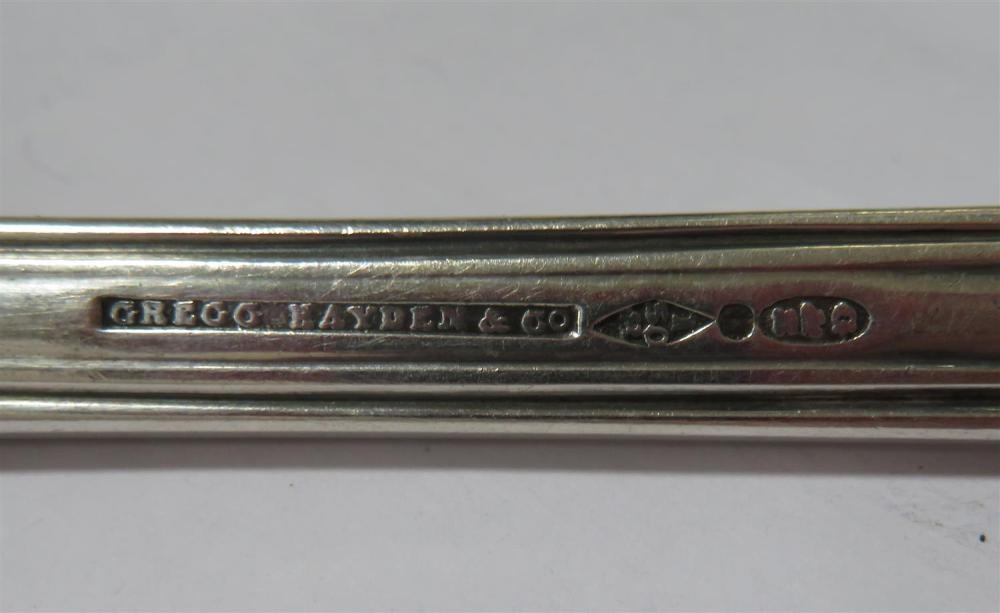 Southern silver ladle, Gregg, Hayden & Co