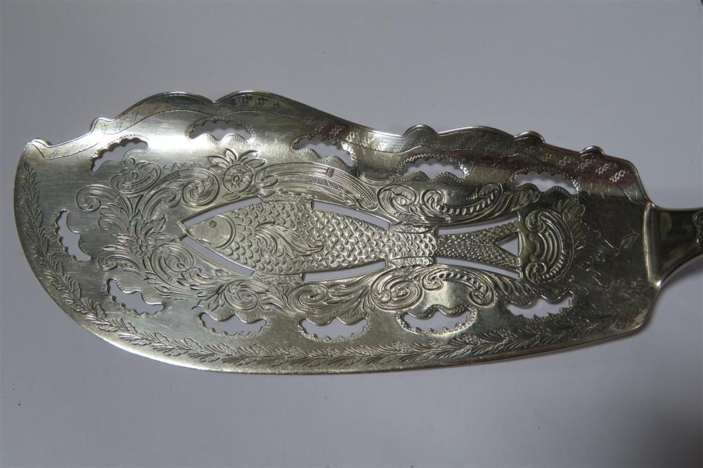 American silver fish slice and flatware (14pcs)