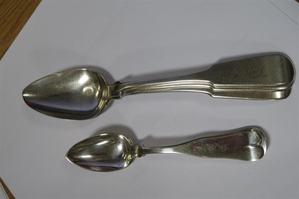 American coin silver flatware and serving pieces (23pcs)