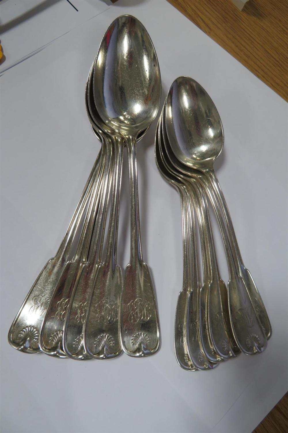 Tiffany & Co Palm pattern silver spoons (12pcs)