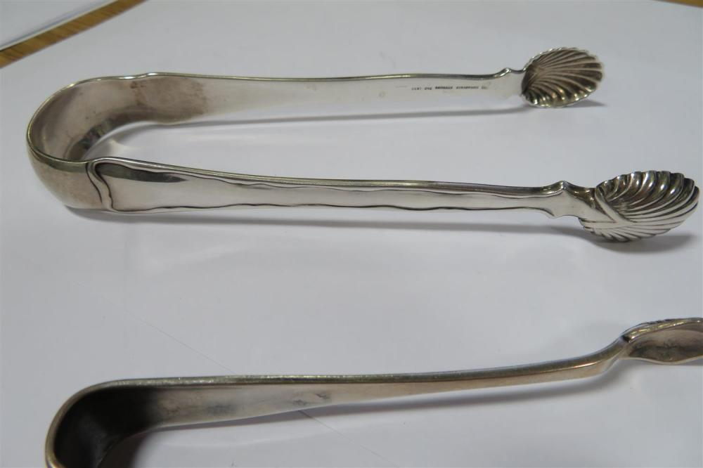Tiffany & Co silver sugar tongs and sandwich server (4pcs)