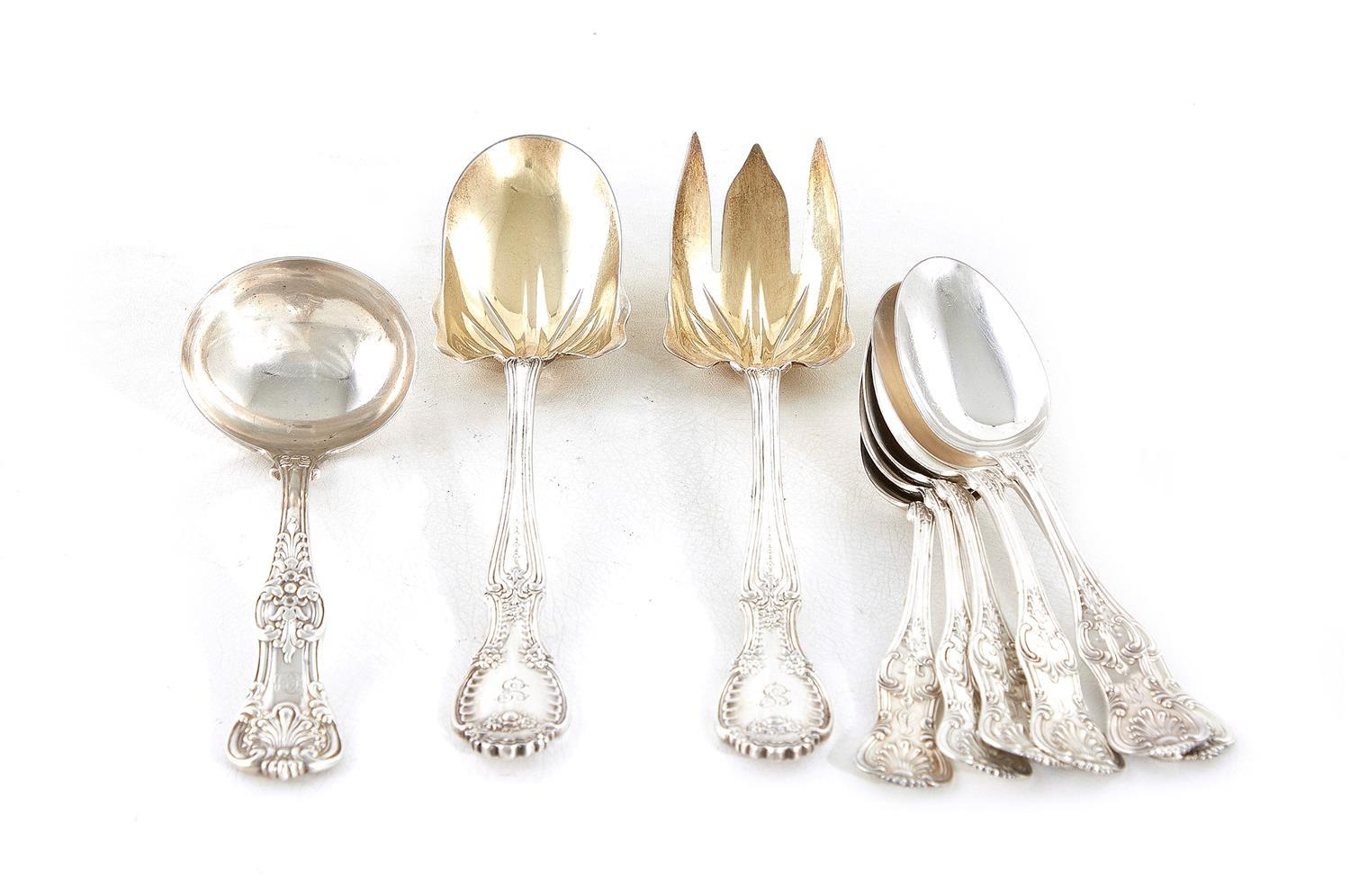 Tiffany & Co silver serving pieces and spoons (9pcs)