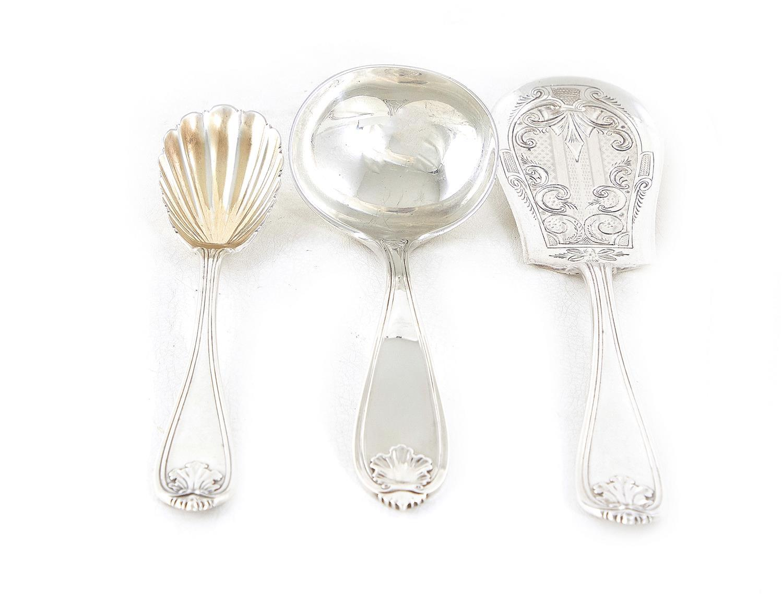 American silver serving pieces, John Polhemus (3pcs)