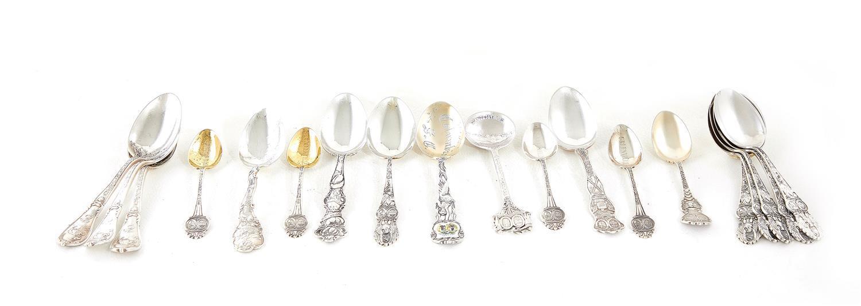 South Carolina silver souvenir spoons (15pcs)