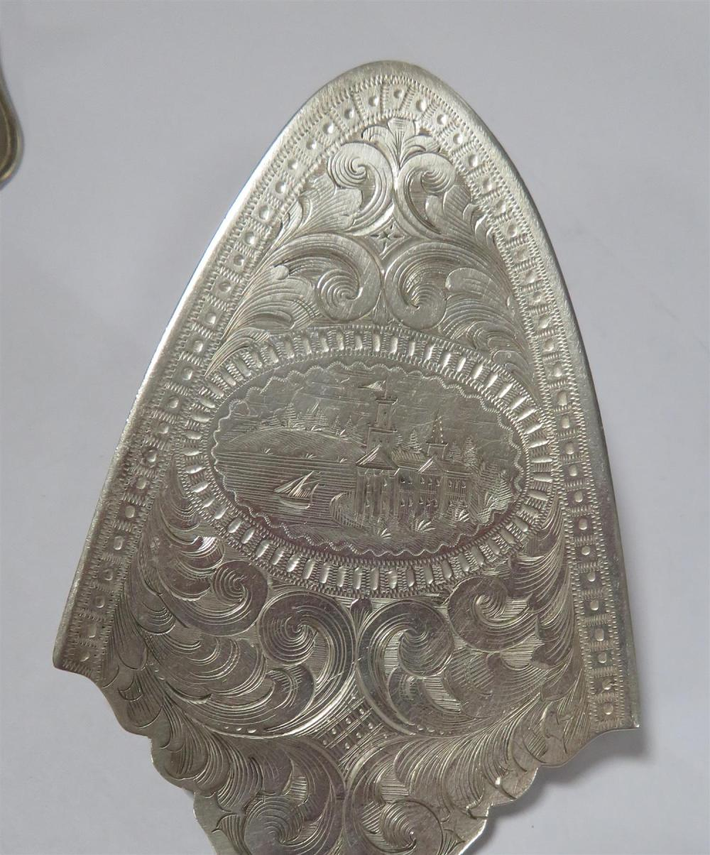 American coin silver serving pieces (5pcs)