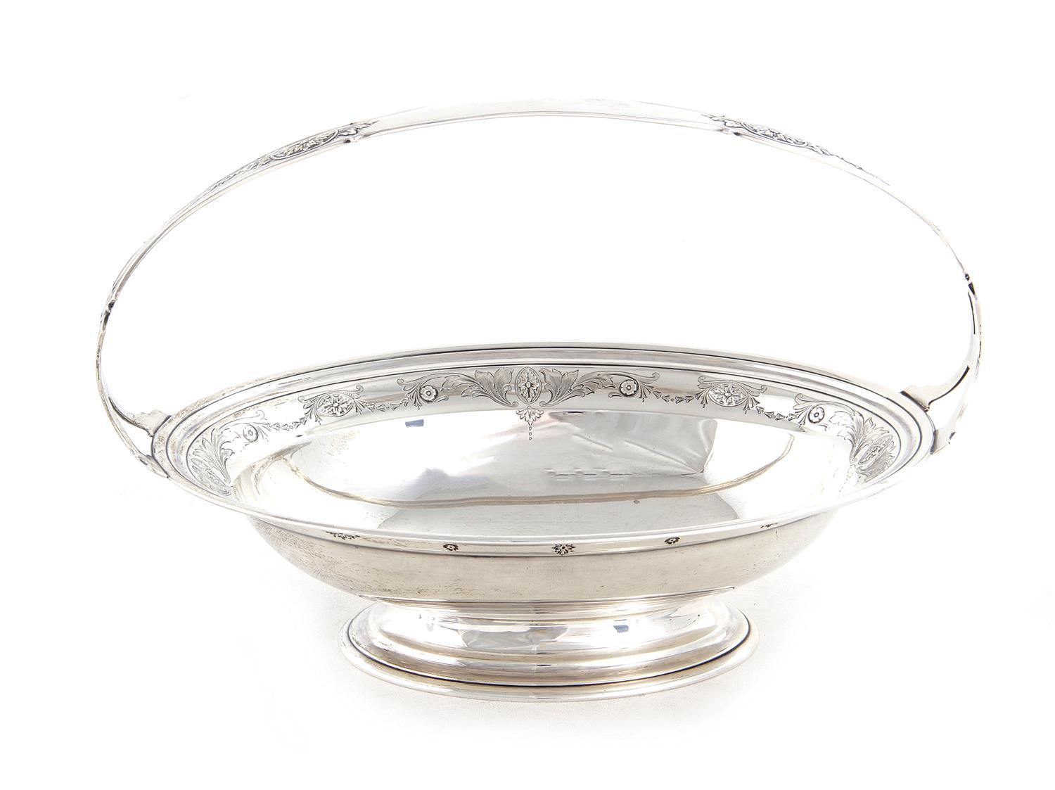 Whiting Mfg. silver oval basket