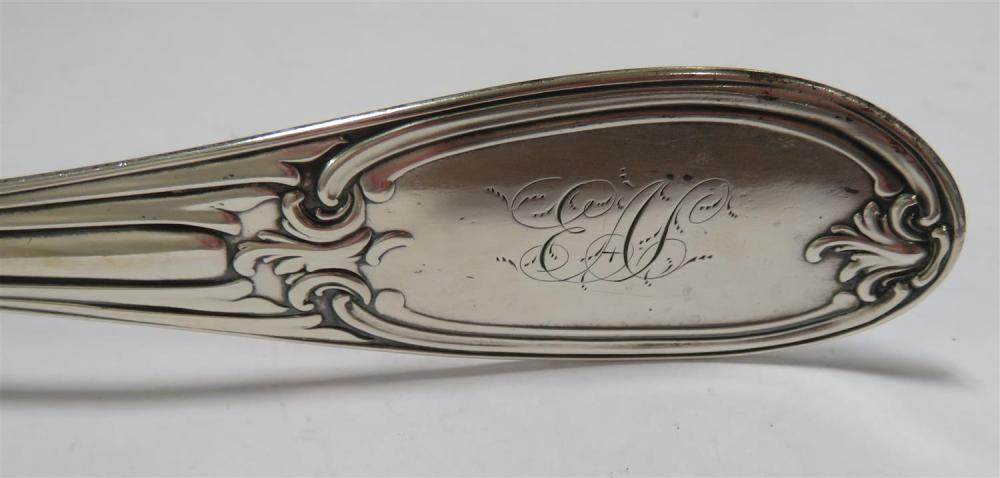 American coin silver ladle, retailed by Young & Leavitt
