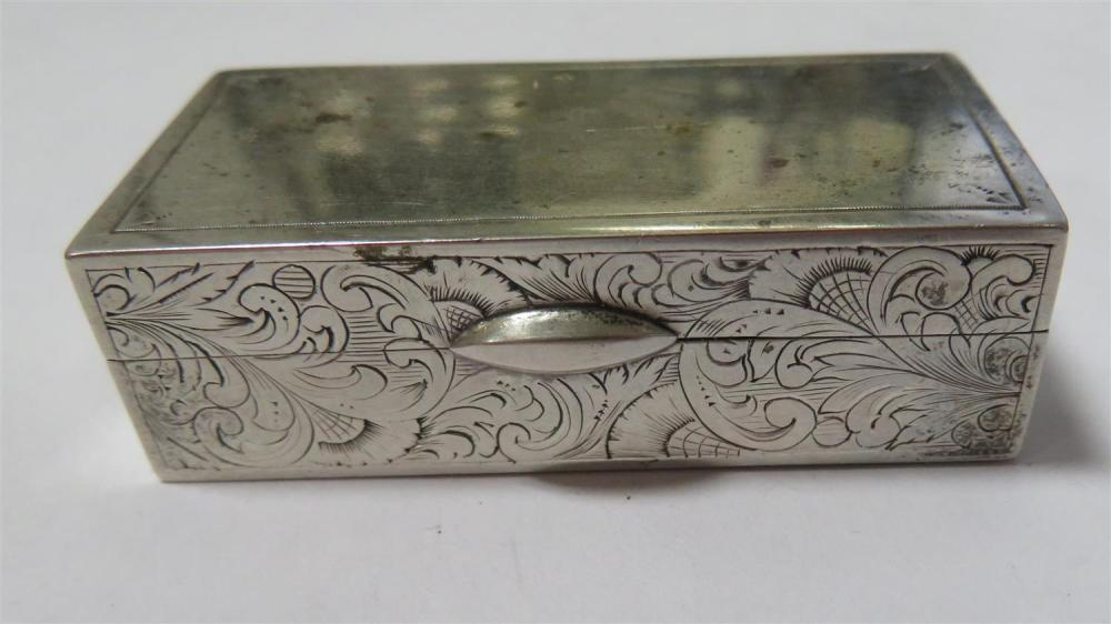 South Carolina silver pill box, Hayden & Gregg (2pcs)