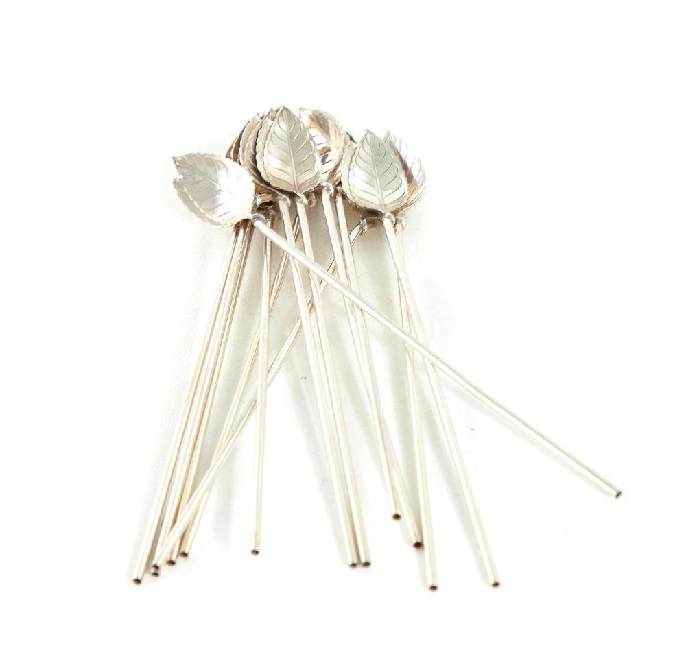 Tiffany & Co silver cocktail or mint julep stir straws (12pcs)
