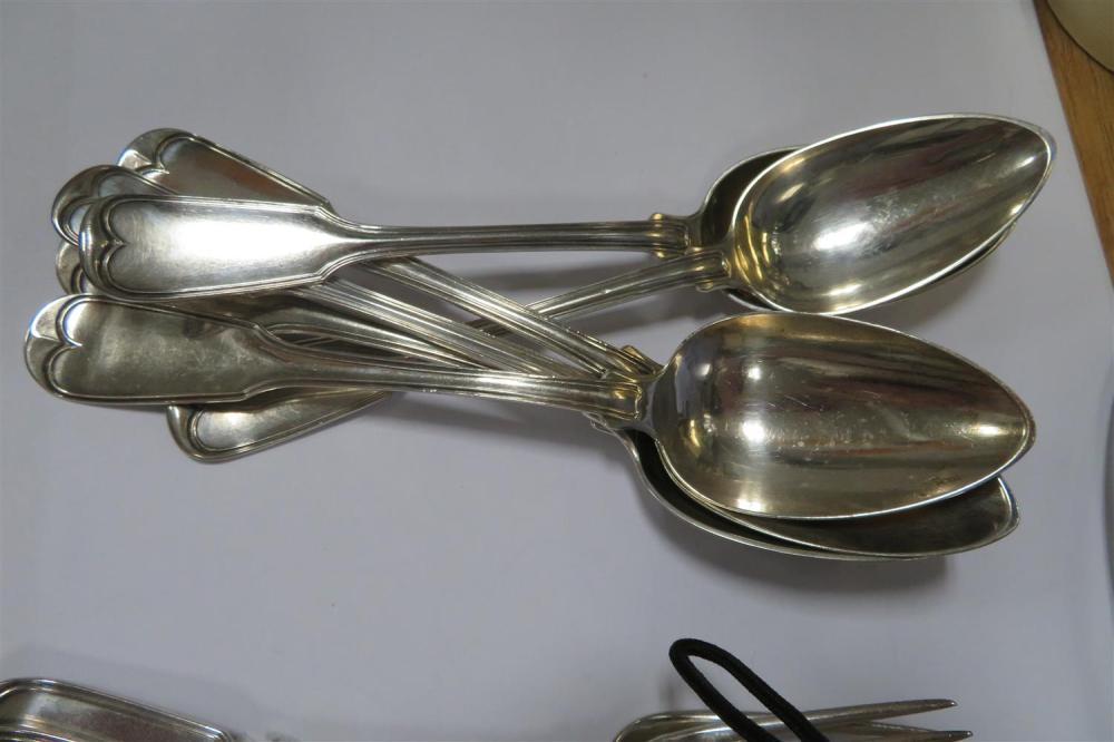 American coin silver flatware, of Judaica interest (24pcs)
