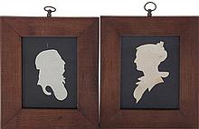 Pair Southern silhouettes, attributed to John Vogler (2pcs)