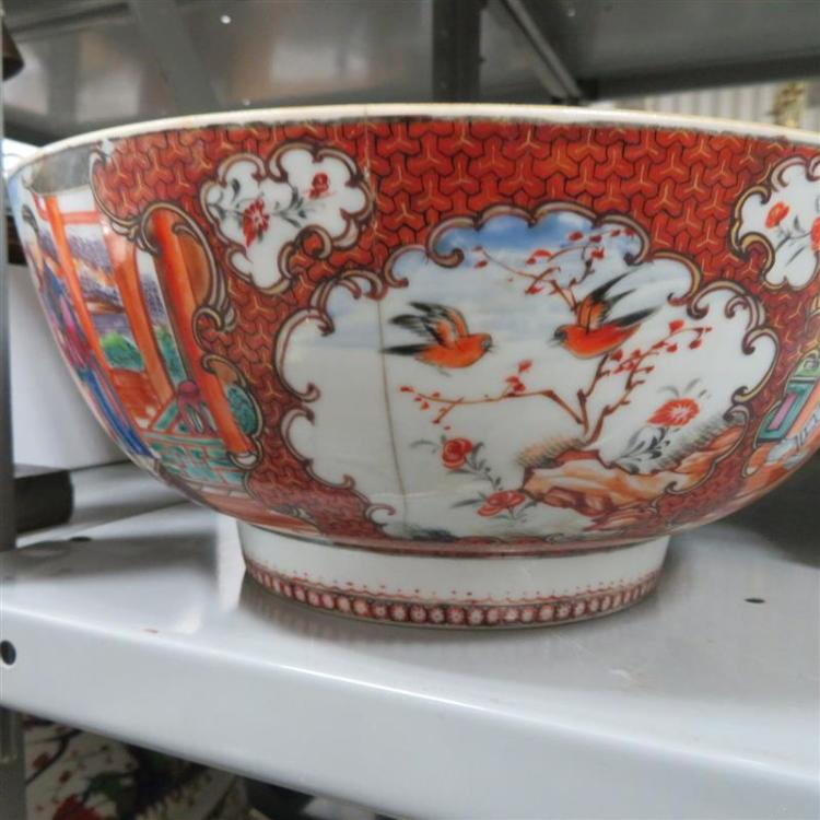 Chinese famille rose and Mandarin porcelain bowls (2pcs)