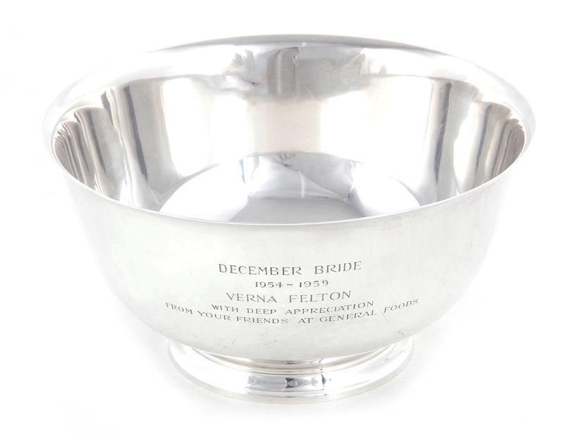 Tiffany & Co silver presentation bowl