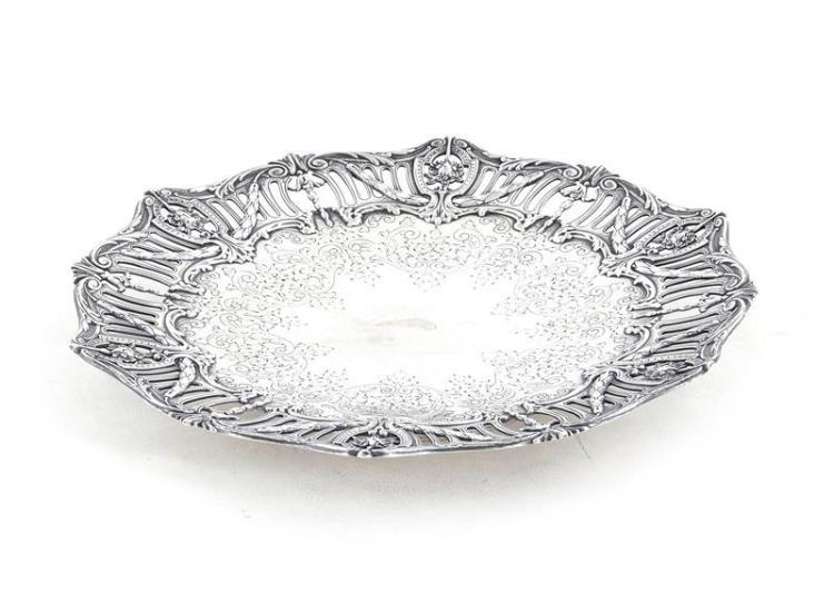 American silver dish, retailed by Tiffany & Co