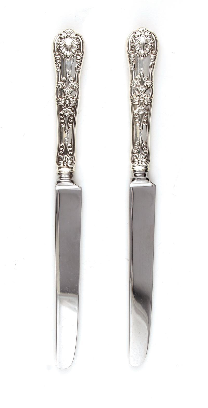 Tiffany & Co King pattern silver knives (12pcs)