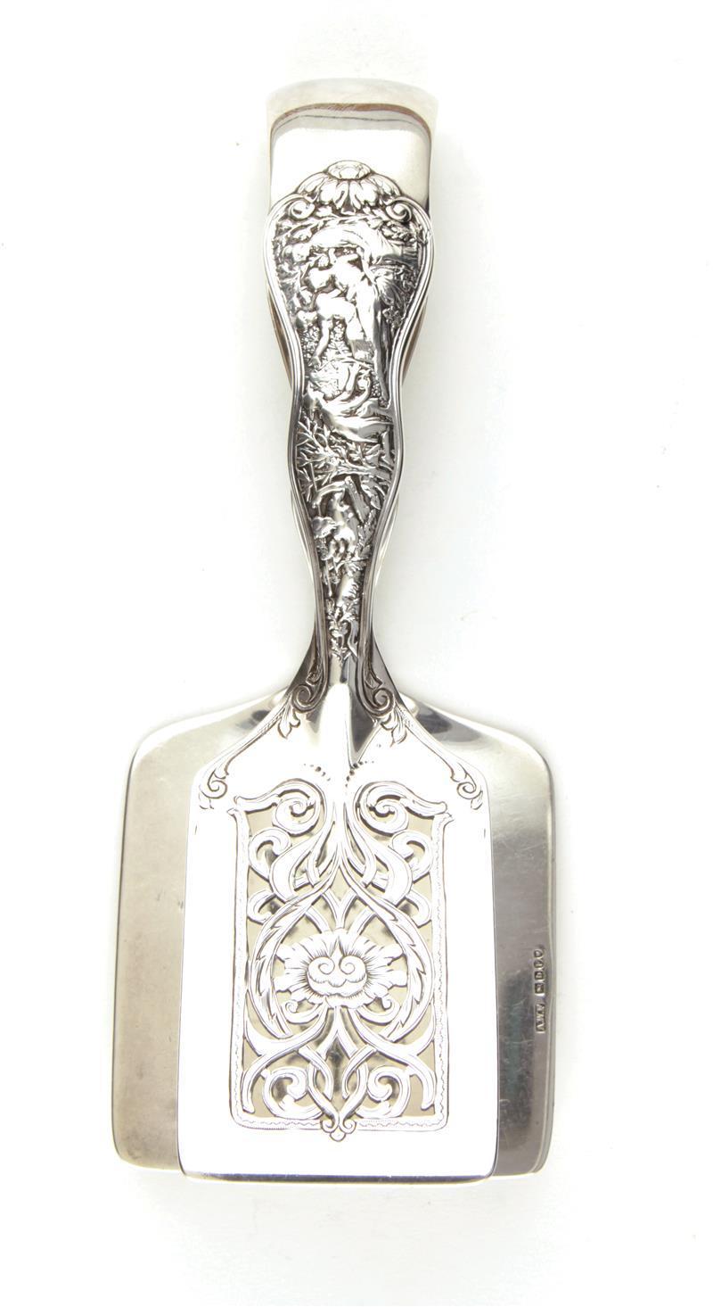 Tiffany & Co Olympian pattern silver sandwich tongs