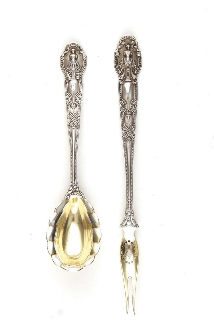 Tiffany & Co Renaissance pattern silver serving pieces (2pcs)