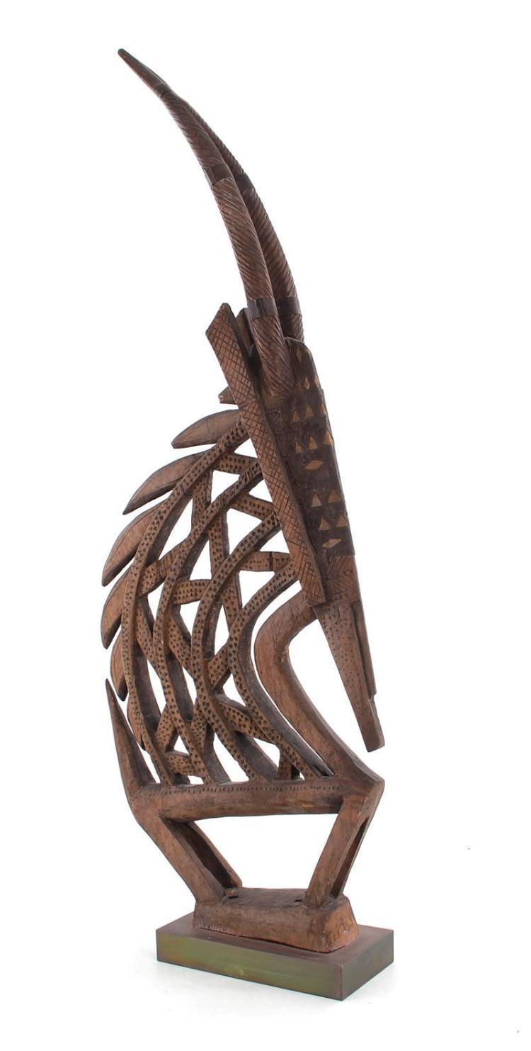 African carved wood Chiware headdress