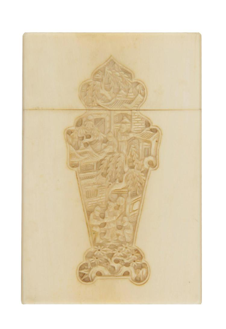 Chinese Export ivory card case