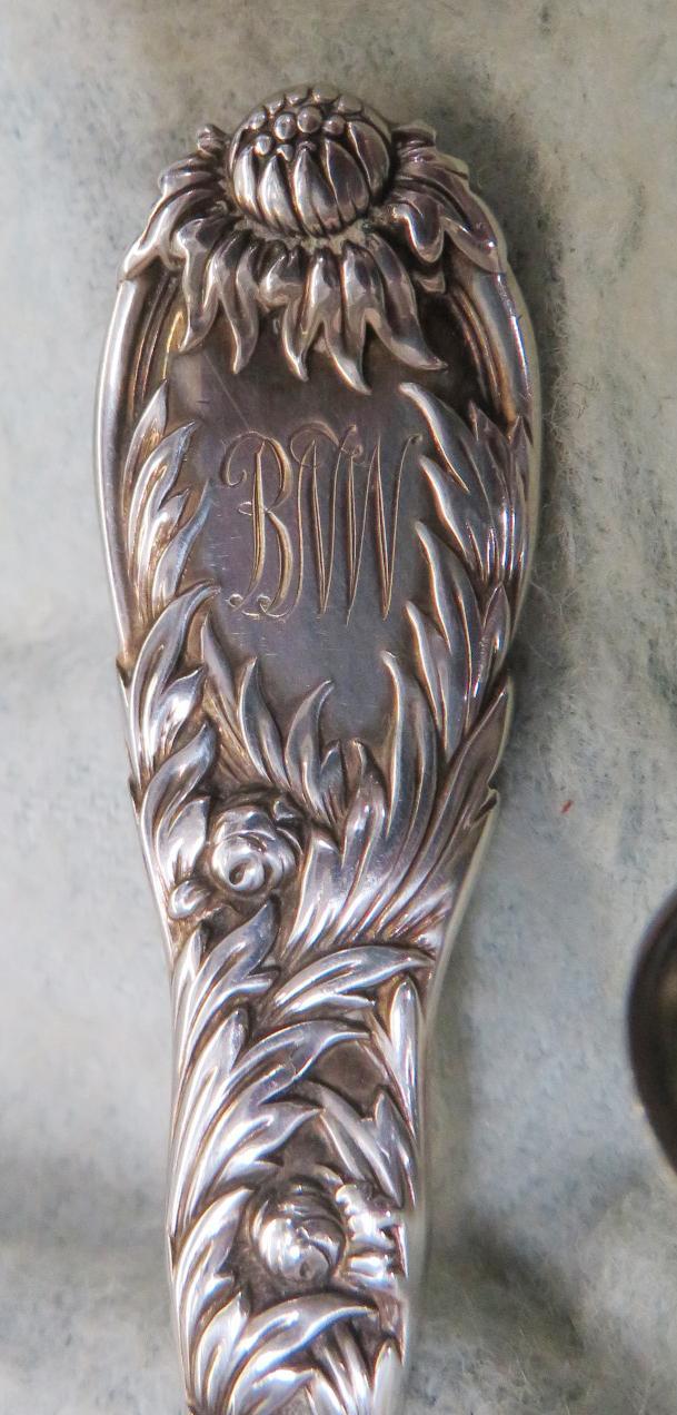 Tiffany & Co Chysanthemum pattern silver demitasses spoons (12pcs)