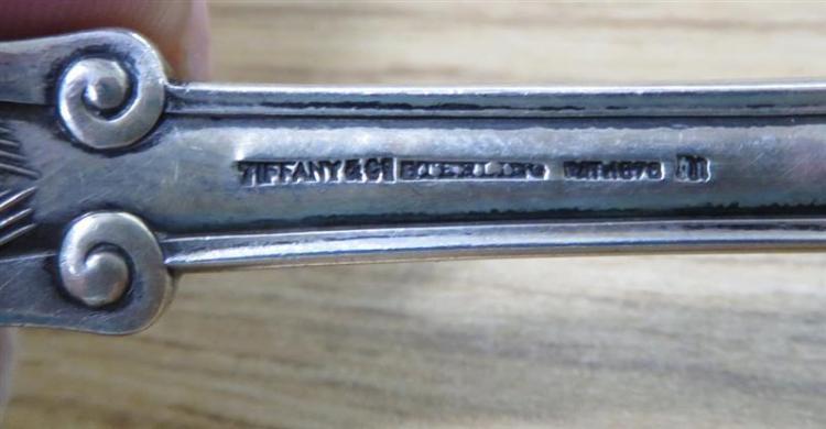 Tiffany & Co Olympian pattern silver serving fork