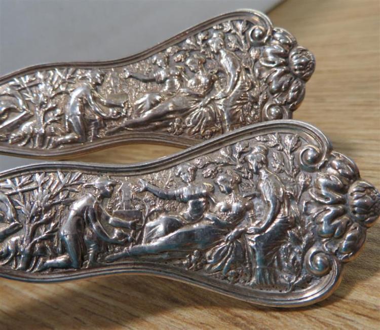 Tiffany & Co Olympian pattern silver salad serving set (2pcs)
