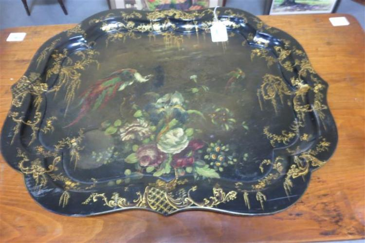 English papier-mache tray