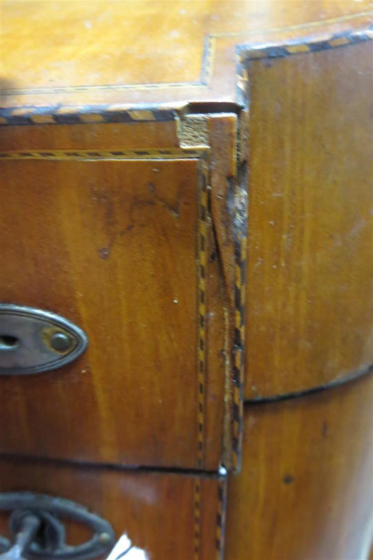 Georgian inlaid satinwood knife/letter box