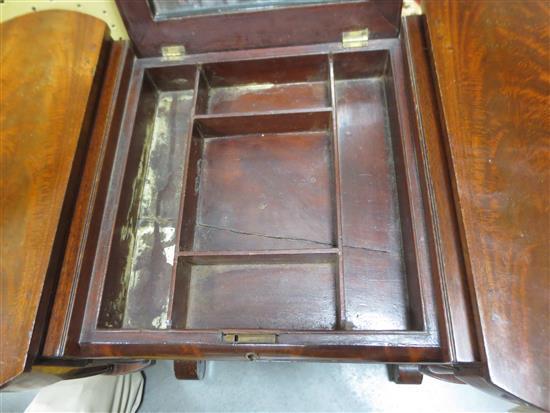 American mahogany sewing/dressing table