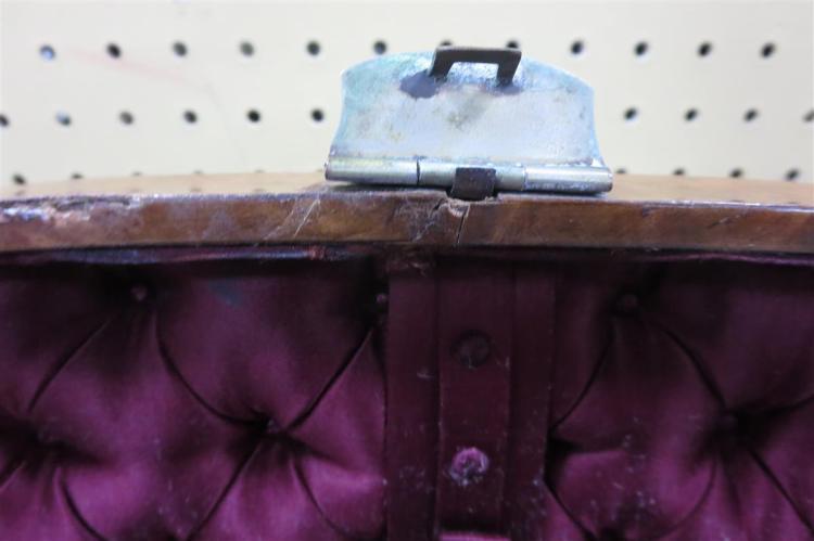 English burl walnut sewing box