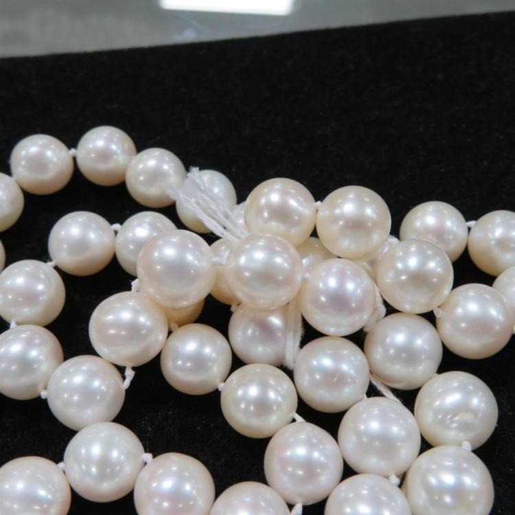 Single strand pearls