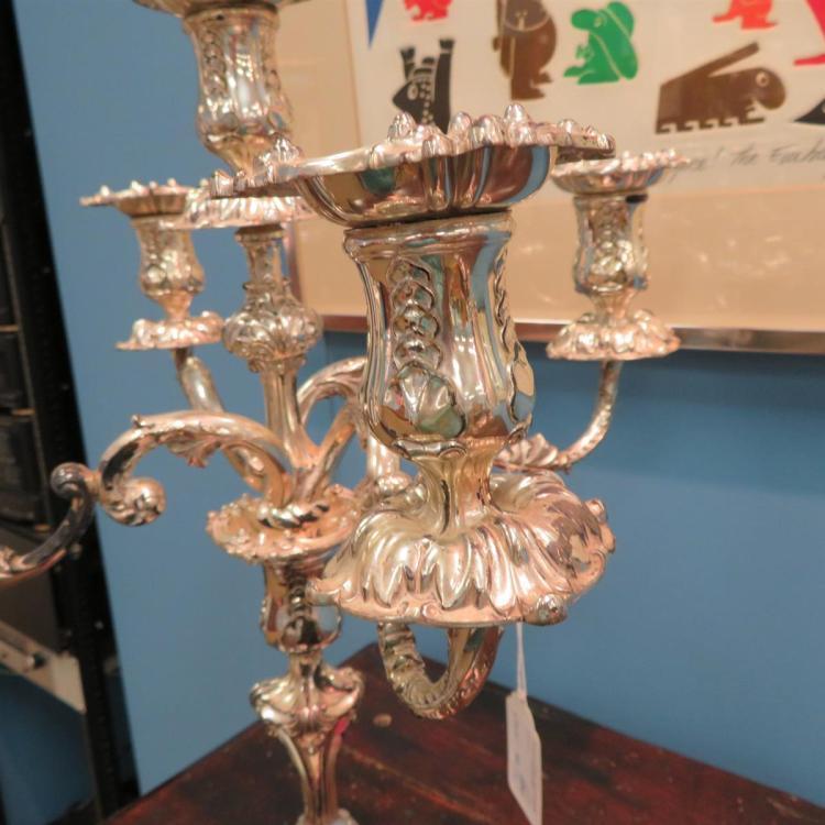 Pair Tiffany & Co five-light candelabra (2PCS)