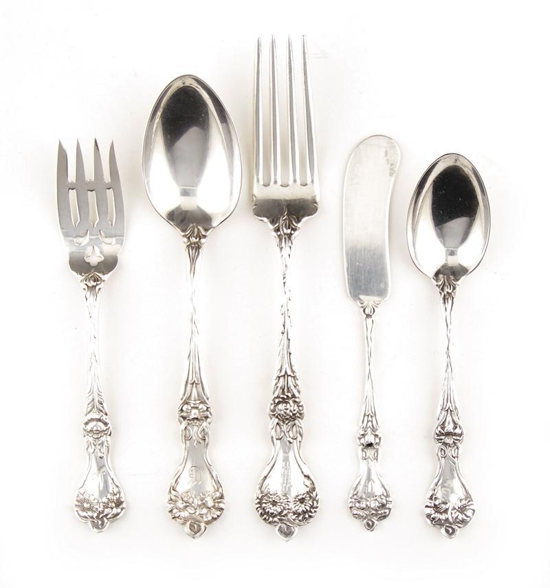 Alvin Majestic pattern silver flatware (13pcs)