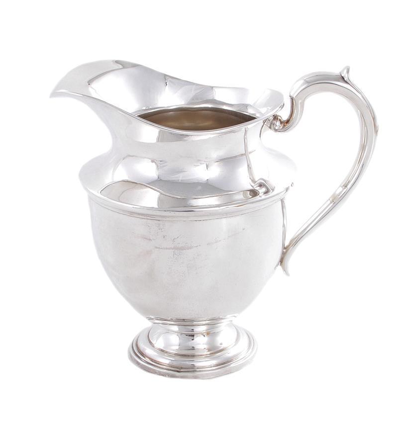 American silver beverage pitcher